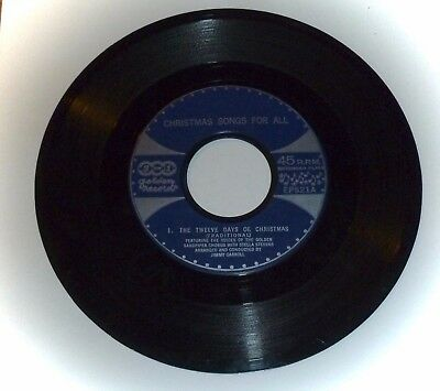 """Vintage 45Rpm """"Golden"""" Record *Christmas Songs For All* 4 Songs"""