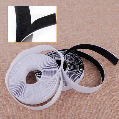 New 5M Sticky Back Strong Self Adhesive Tape Hook and Loop 20mm Nylon Fastener