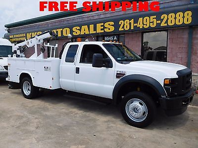 2009 Ford F-550 Super Duty Utility Service Truck With IMT Crane 6.4L DIESEL