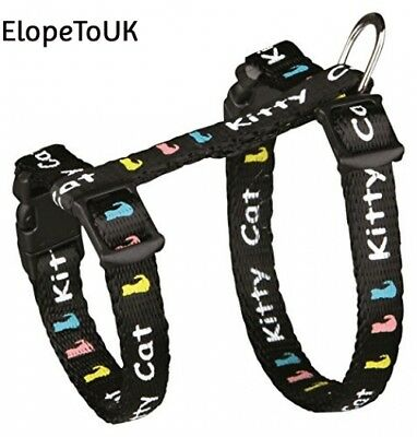 Trixie 4181 Set of Harness and Lead for Kittens / Small Cats Nylon 21 - 33...