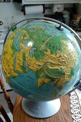 """Nystrom Sculptural Relief Globe 16""""  1995  Map number 39-47"""