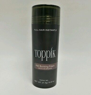 TOPPIK 27,5 g Haarverdichter Streuhaar Schütthaar Hair Fibers Medium Brown