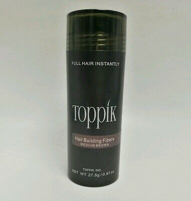 2 x TOPPIK 27,5 g Haarverdichter Streuhaar Schütthaar Hair Fibers Medium Brown