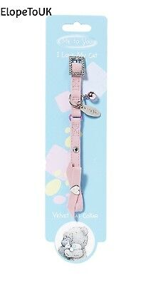 Me to You Velvet Cat Collar, Pink
