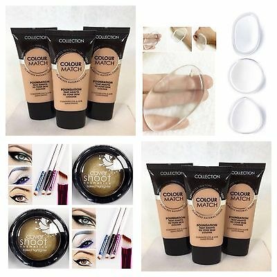 Collection 2000 Colour Match Foundation 05 Honey Highlighter Silicone Sponge
