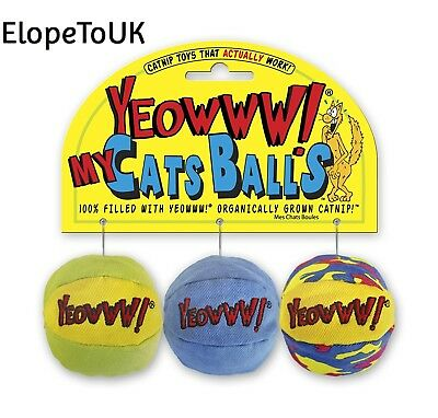 Rosewood Yeowww My Cats Balls Catnip Toy (Pack Of 3)