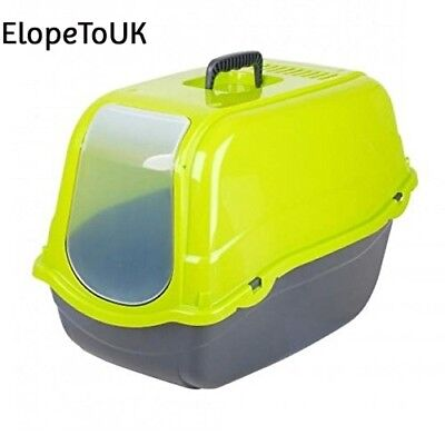 Click & Secure Pet Cat Litter Tray Toilet Box (Green)