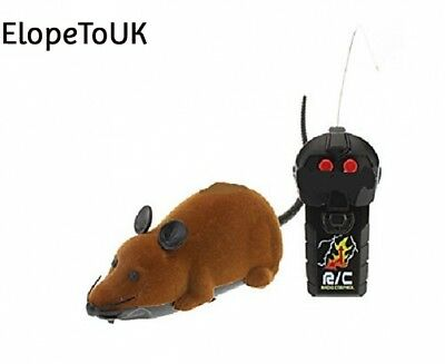 Remote Control Brown Rat Mouse Toy for Cat Kitten Dog Pet Novelty Gift