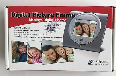 """SMARTPARTS 3.5"""" DIGITAL PICTURE FRAME, USB Cable & Video Cable, AC Adapter - NEW"""
