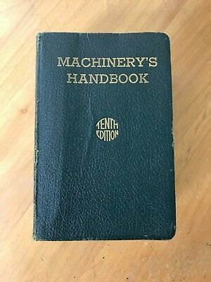 Machinery's Handbook For Machine Shop and Drafting-Room 1939 Tenth Edition