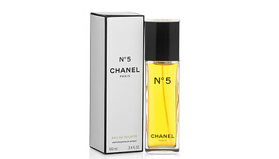 No 5 Chanel  3.4 oz / 100 ml Eau De Toilette Women New In Box 100% Authentic