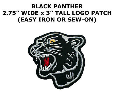 New HUGE BLACK TIGER PANTHER HEAD Embroidered Iron on Patch