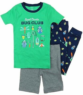 08c5d34c5 NWT CARTER S BOYS Cotton 3 Piece Fish Pajama Set Navy