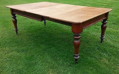 Victorian Mahogany and Pine Extending Dining Table.