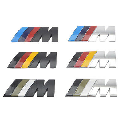BMW M logo badge GERMAN FLAG  M X 1 3 4 5 6 7 Z X M3 M5 M6 E46 E39 E60 E90 E36 E
