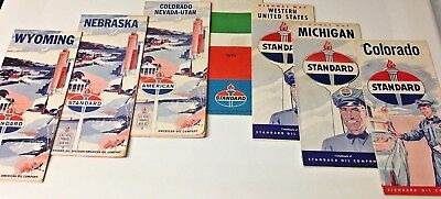 Standard  Highway Lot Of 7 Maps