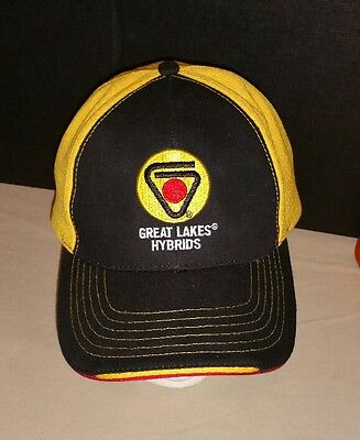 Gold Black Great Lakes Hybrids Seed Cap Hat Corn Soybeans