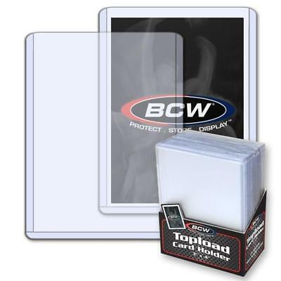 50 BCW Trading Card 12 MIL Hard Plastic Topload Holders 3X4 3 X 4 TOP LOAD