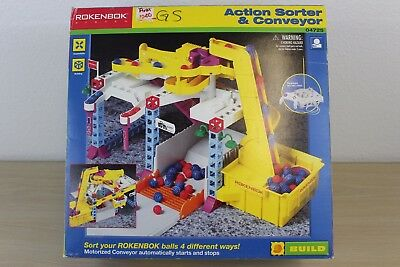 Action Sorter & Conveyor Set #04725 Rokenbok System Building 1998 NEW in BOX