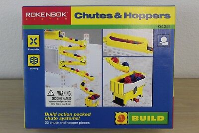 Chutes & Hoppers Set #04311 Rokenbok System Building 1997 NEW in BOX
