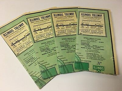 Illinois Tollway Speed Radar Timed  Vintage 4 Maps