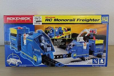 Wireless RC Monorail Freighter Set #06222 Rokenbok System Building 2000 NEW