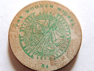 "Vintage Classic July 20, 1962 ""Marine Trust Bank"" Wooden Nickel"