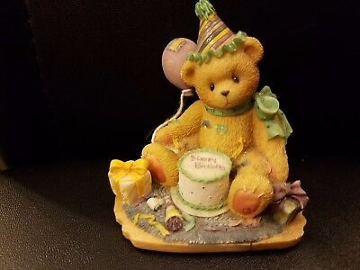 """Cherished Teddies """"You're the Frosting On The Birthday Cake"""" Figurine 1997"""