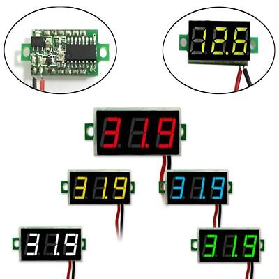 DC 0-30V 2 Wire LED Display Car Digital Voltage Voltmeter Panel Car Motorcycle