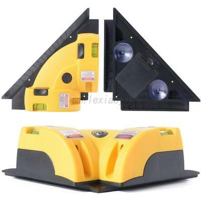 UK Right Angle 90 Degree Vertical Horizontal Laser Line Projection Square Level
