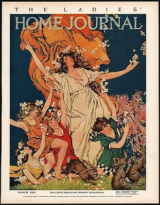 Vintage magazine ad LADIES HOME JOURNAL cover Cream of Wheat 1921 Peck Brewer