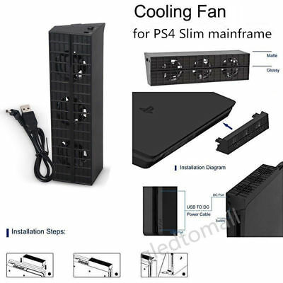 Cooling Fan Heat Exhauster Cooler Temperature Control For PS4 Game Console Slim
