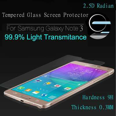 Tempered Glass Screen Protector For Samsung Note3 9H  Clear Anti-Glare Promotion