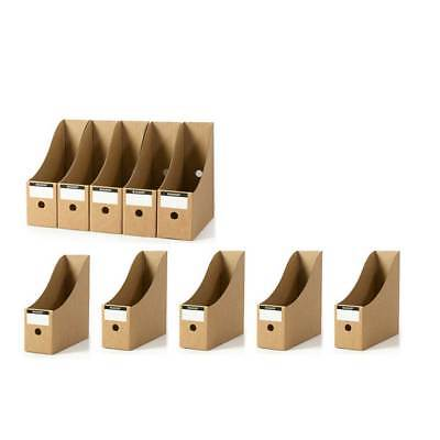 5Pcs Kraft Paper File Magazine Holder Desk Storage Organizer For Office Home