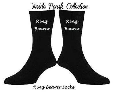 Page Boy Ring Security Ring Bearer Wedding gift Wedding Socks Personalised