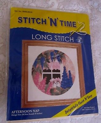 LONGSTICH STITCH 'N' TIME *AFTERNOON NAP* Kit No: 9000.0010 - Unopened