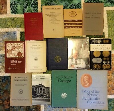 Lot of 13 books United States Numismatics Coins - new to classic - great reading