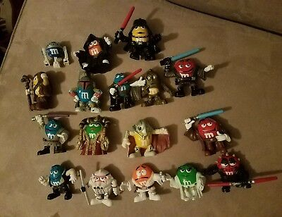 M&M's Star Wars Chocolate Mpire Figure Lot empire LOT OF 17 Darth maul vader