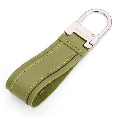 NEW Fedon Nappa Snap Hook Keyring Green