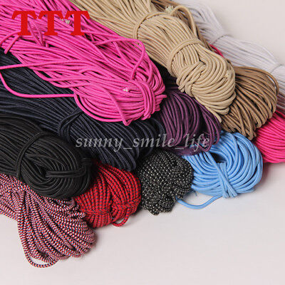 5 Yards Elastic Stretch Round Rubber Band Cord Clothing DIY Sewing Rope 2.5mm