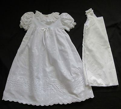 Christening Gown Dress,3 Months,Fits 14-16 lbs,New,Baptism,White,with slip