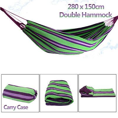 New Double Cotton Fabric Hammock Air Chair Hanging Swinging Camping 280*150cm AU
