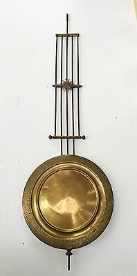 An Art Deco Grid Iron Pendulum