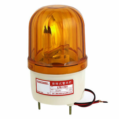 LTE-1101 Alarm System Yellow Rotating Industrial Signal Warning Light DC 24V 10W