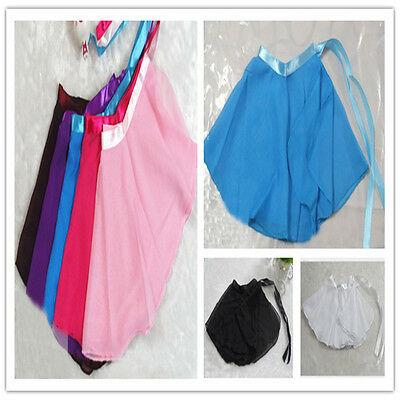 New Women Kids Chiffon Ballet Wrap over Scarf Skirt Dance Leotard Tutu Dress @MW