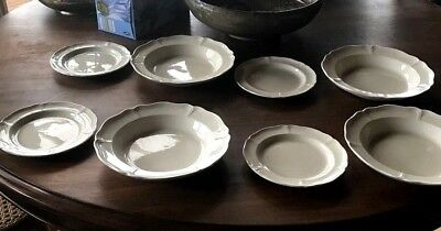 Four Place Soup Bowl And Bread Plate Wedgwood Queen's Plain