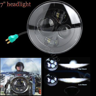 7inch Cree LED Projector Daymaker Hi Lo Beam Headlight H4 For Harley Davidson