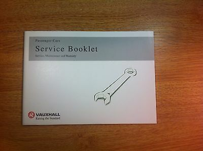 vauxhall service book brand new not duplicate all models petrol and diesel ...