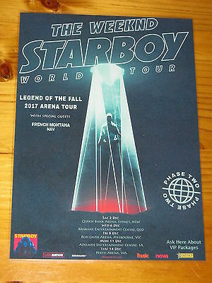 THE WEEKND  - 2017  STARBOY  Australia Tour - Laminated Promotional Poster