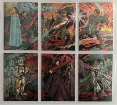 Star Wars 2006 Topps Evolution Update Etched Foil Trading Card Chase Set Of 6